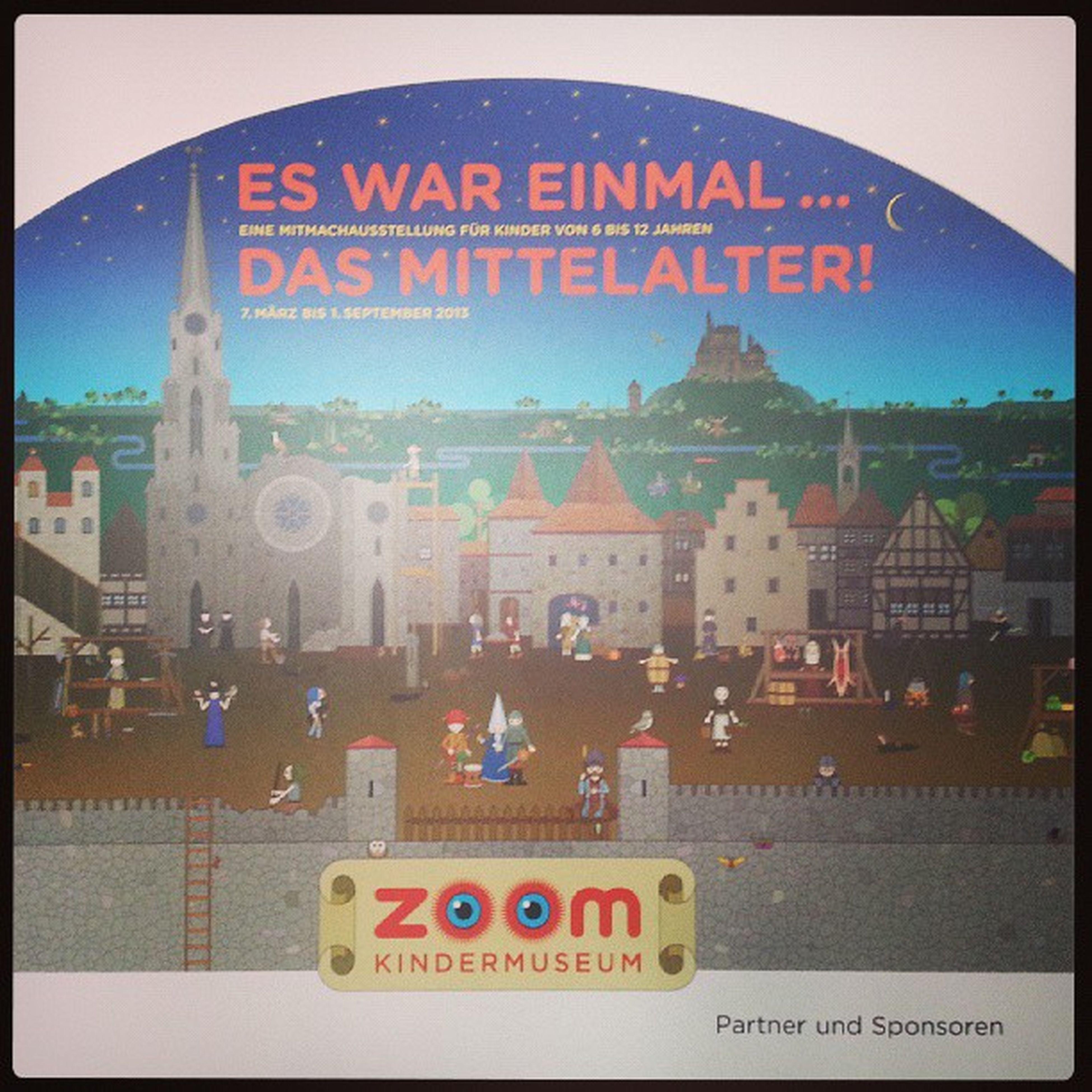 Heute mal eine Zeitreise ins Mittelalter gemacht ^^ Mitmachausstellung Zoom kindermuseum wien