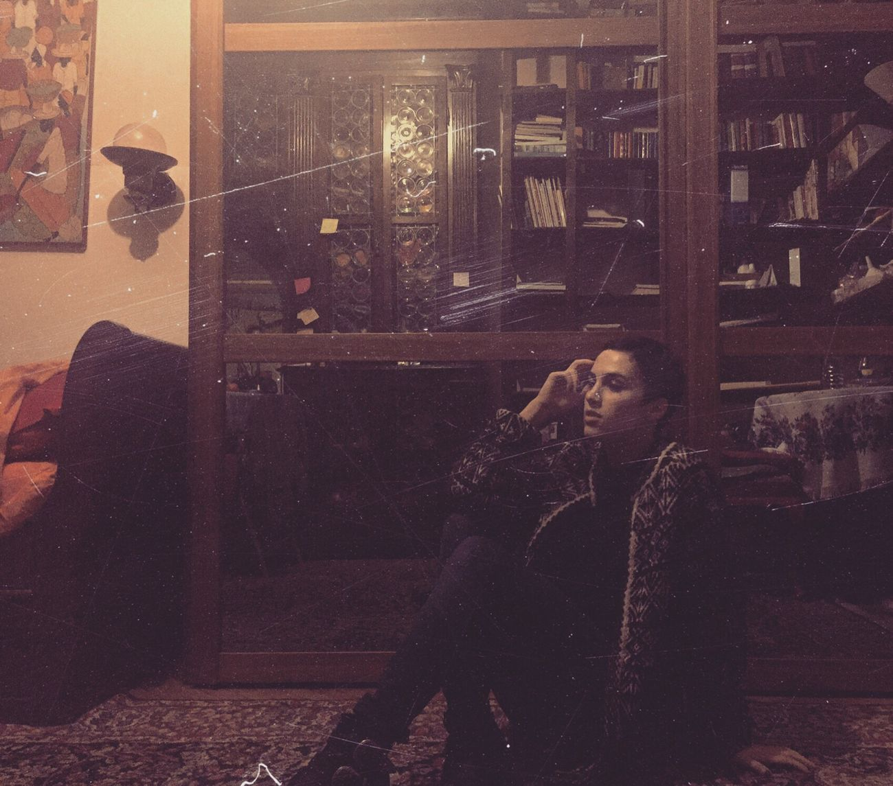 One Person Lifestyles Home Interior Women Relaxing EyeEm Taking Photos Italiangirl Pictureoftheday Girl Pixiecut Sixties