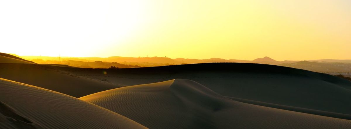 Arid Climate Beauty In Nature Clear Sky Day Desert Landscape Mountain Mountain Range Nature No People Outdoors Sand Dune Scenics Sky Sunset Tranquility Travel Travel Destinations