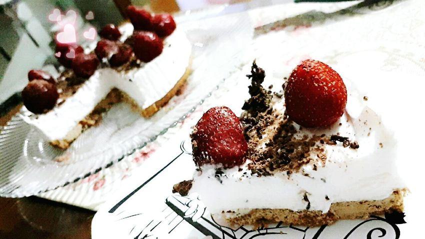 Strwberry Food Enjoying Life c Cheese Cake Sweets Sweet Food
