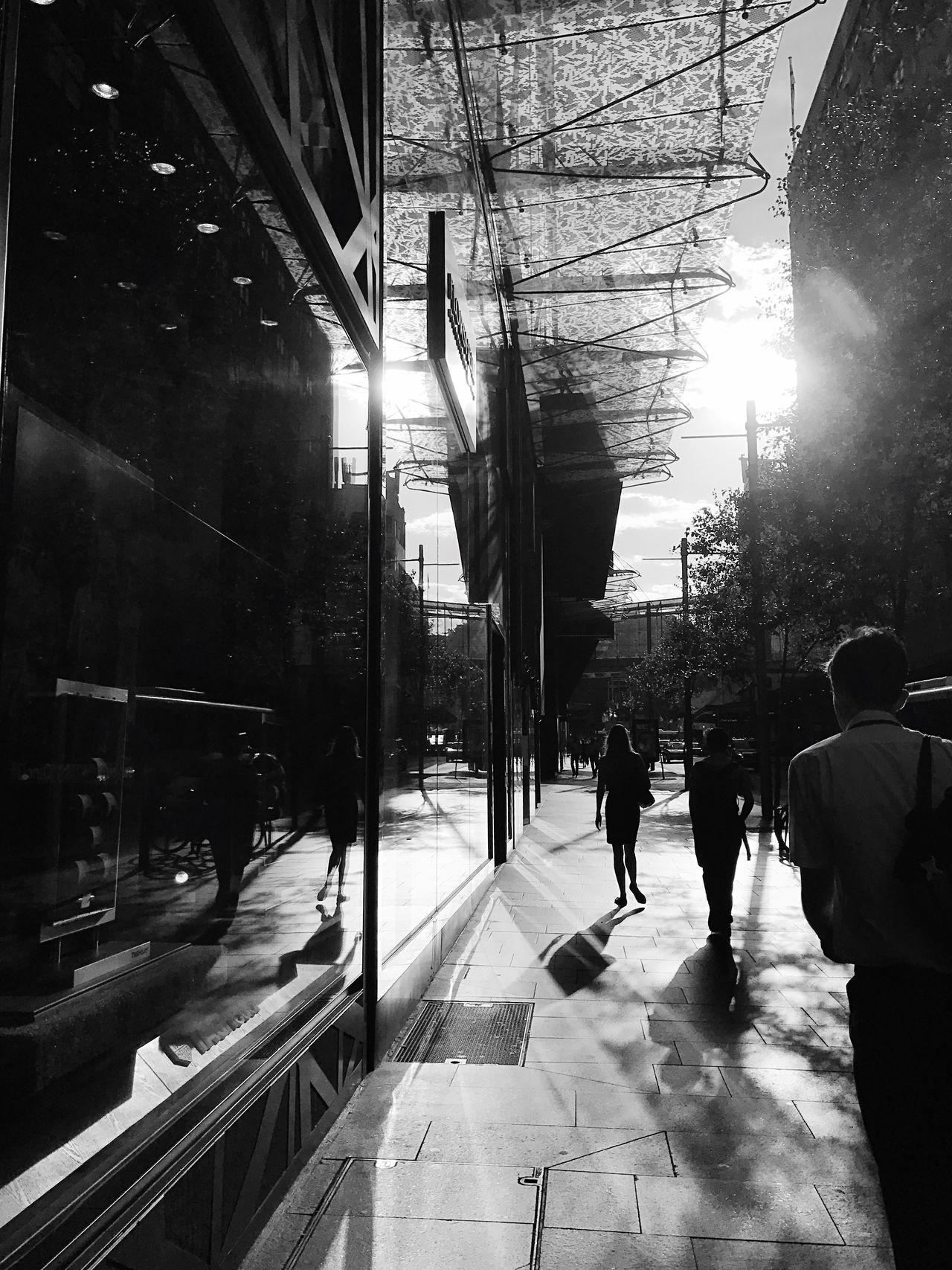 Black And White City Life The City Light