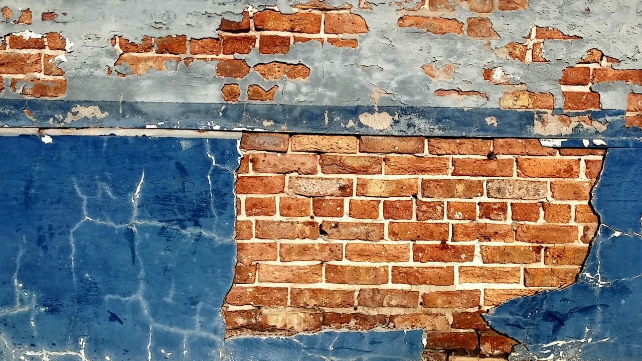 Bricks Brick Brick Wall Brick Walls Brickstones Brick Buildings Brick And Mortar Bricks And Stones No People Textured  Day Architecture Built Structure Outdoors Rusty Backgrounds Close-up Sky