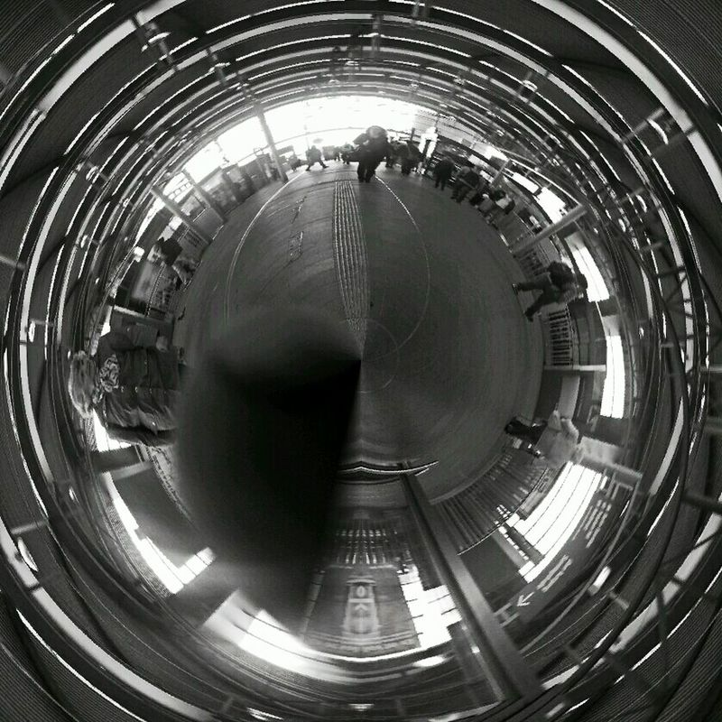 Berlin Ostkreuz Train Station Globe_travel Black And White
