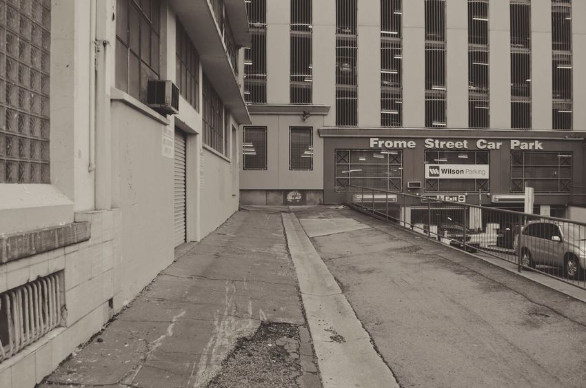 Parking Architectural Column Architecture Building Built Structure City City Life Day Diminishing Perspective Empty Modern Narrow No People Outdoors The Way Forward Vanishing Point Walkway