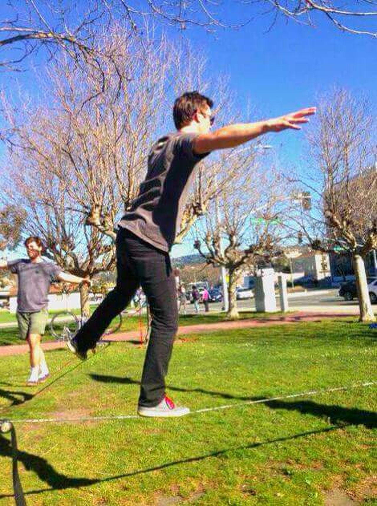 San Francisco, California Outdoor Activities I Got Mad Tightrope Walking Skills  1st Try