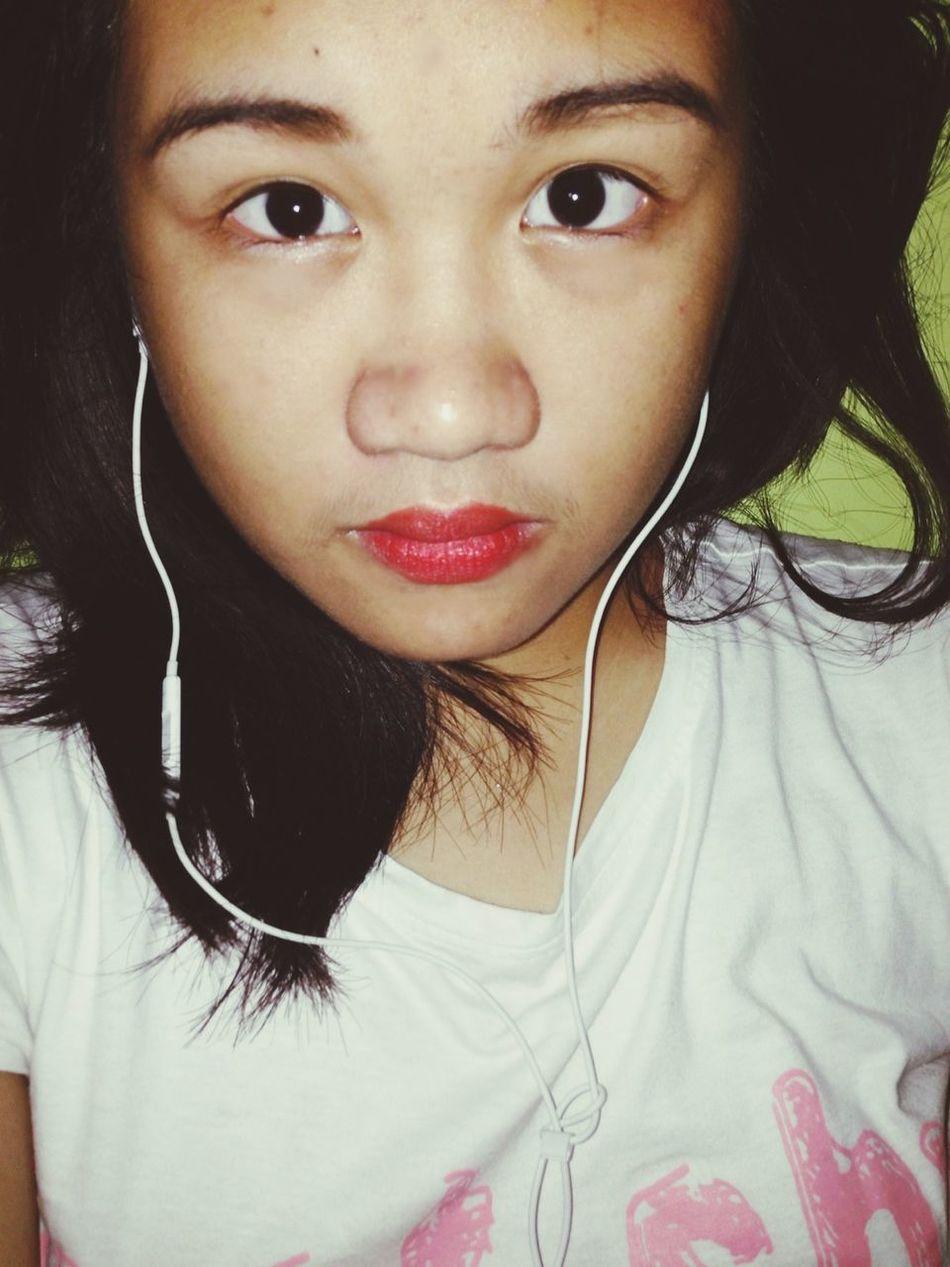 YEAH. WHATEVS.! Self Portrait Color Portrait Fierce Red Lips