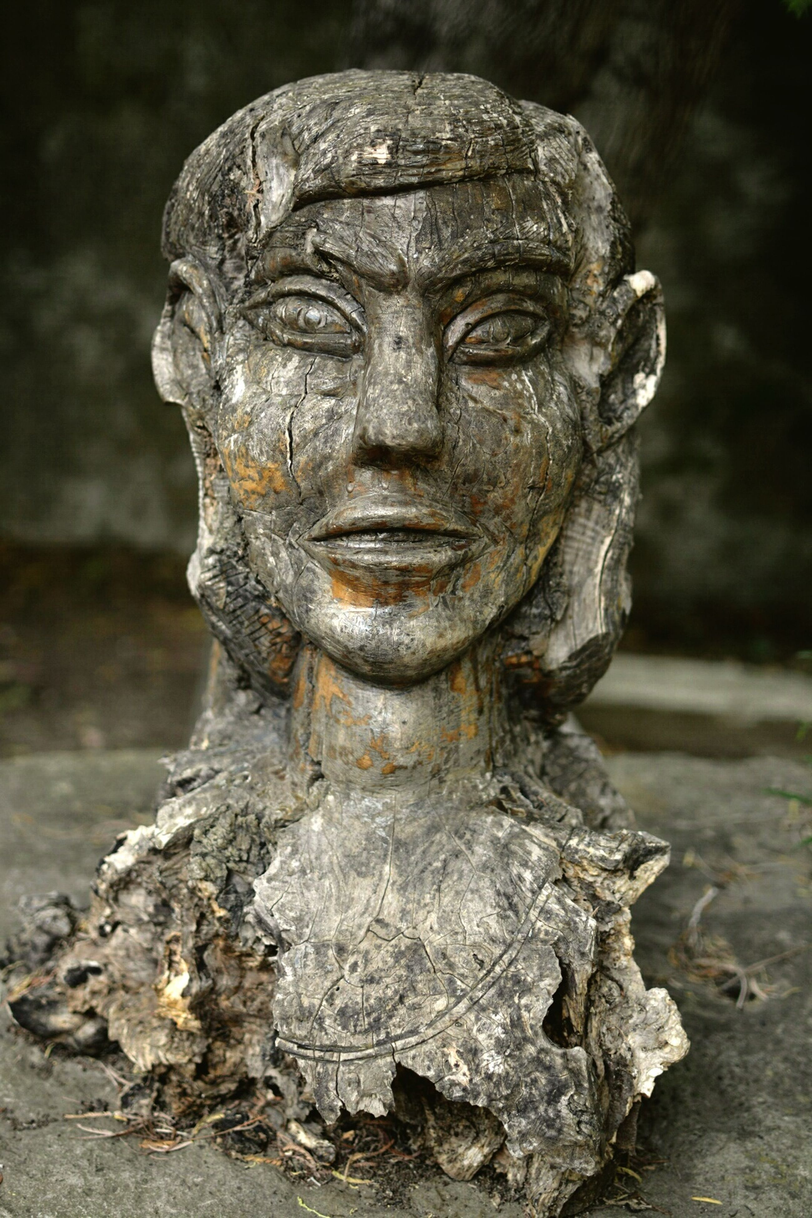 human representation, statue, sculpture, art and craft, art, creativity, carving - craft product, close-up, focus on foreground, old, stone material, weathered, stone, history, no people, carving, outdoors, religion