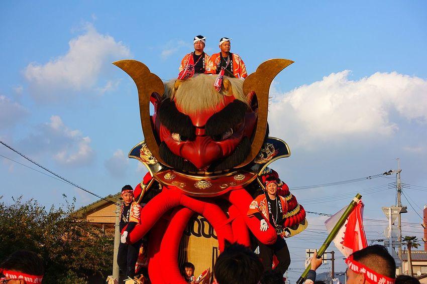 怖い。 People Matsuri Karatsukunchi Japanese Culture 祭り(festival) In Japan Saga,Japan 唐津くんち 唐津市 Japan