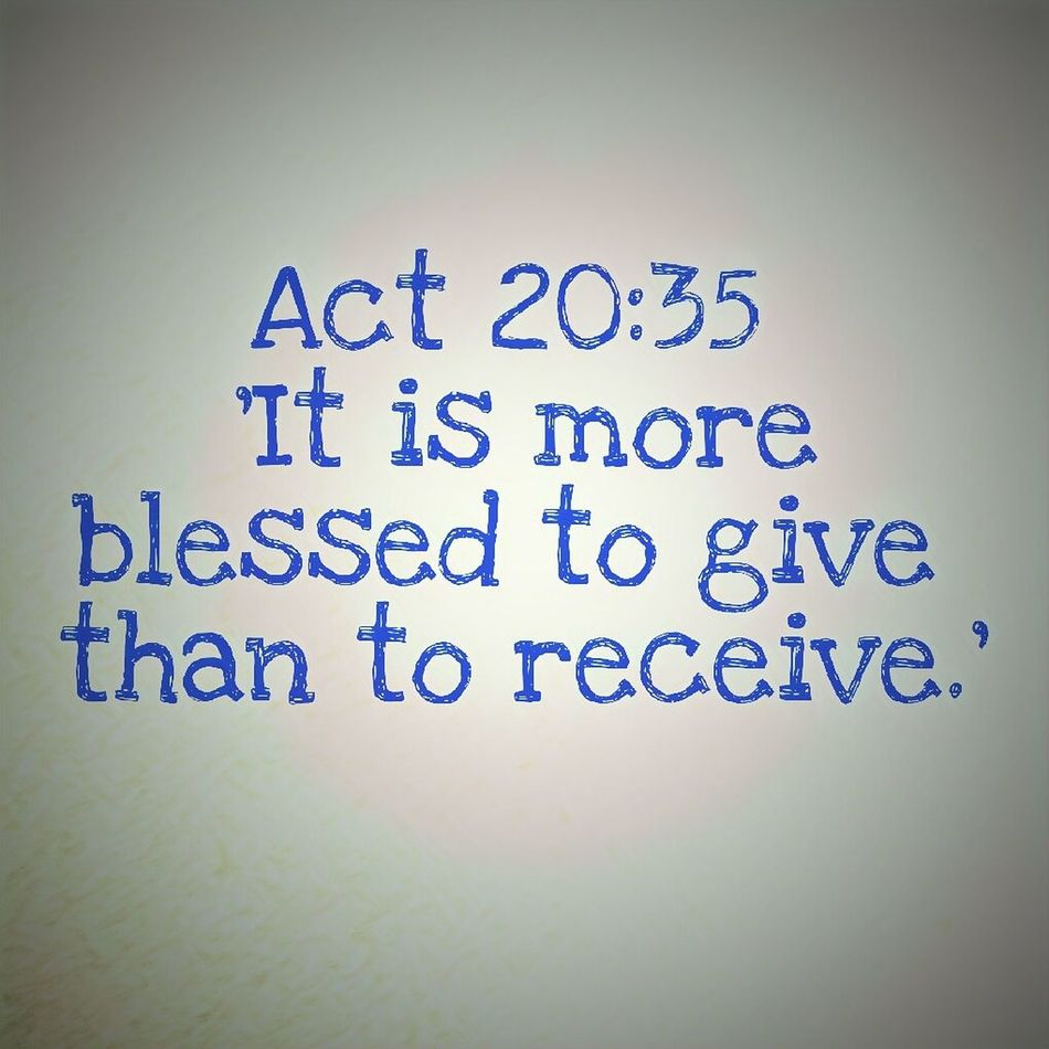 """*[[Act 20:35]] NET* By all these things, I have shown you that by working in this way we must help the weak, and remember the words of the Lord Jesus that he himself said, 'It is more blessed to give than to receive.'"""" Text Communication Message Help Bible Bible Verses Jesus Give Bless Blessed  Blessing Receiving Giving"""