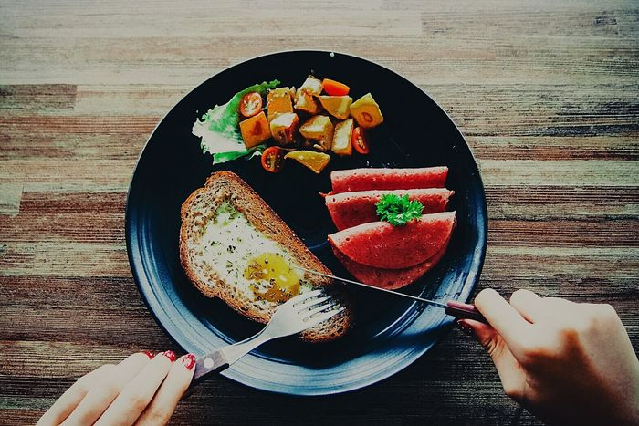 Big Breakfast to start your daily activities Healthy Eating Food And Drink Food Freshness Breakfast High Angle View Indoors  Table Bowl Human Body Part Ready-to-eat Human Hand Toasted Bread People Close-up Day BigBreakfastfortheBigGirl Greatbreakfast Hungry Eyeemfood Food Photography Foodiegram Foodie Culture Handsinframe