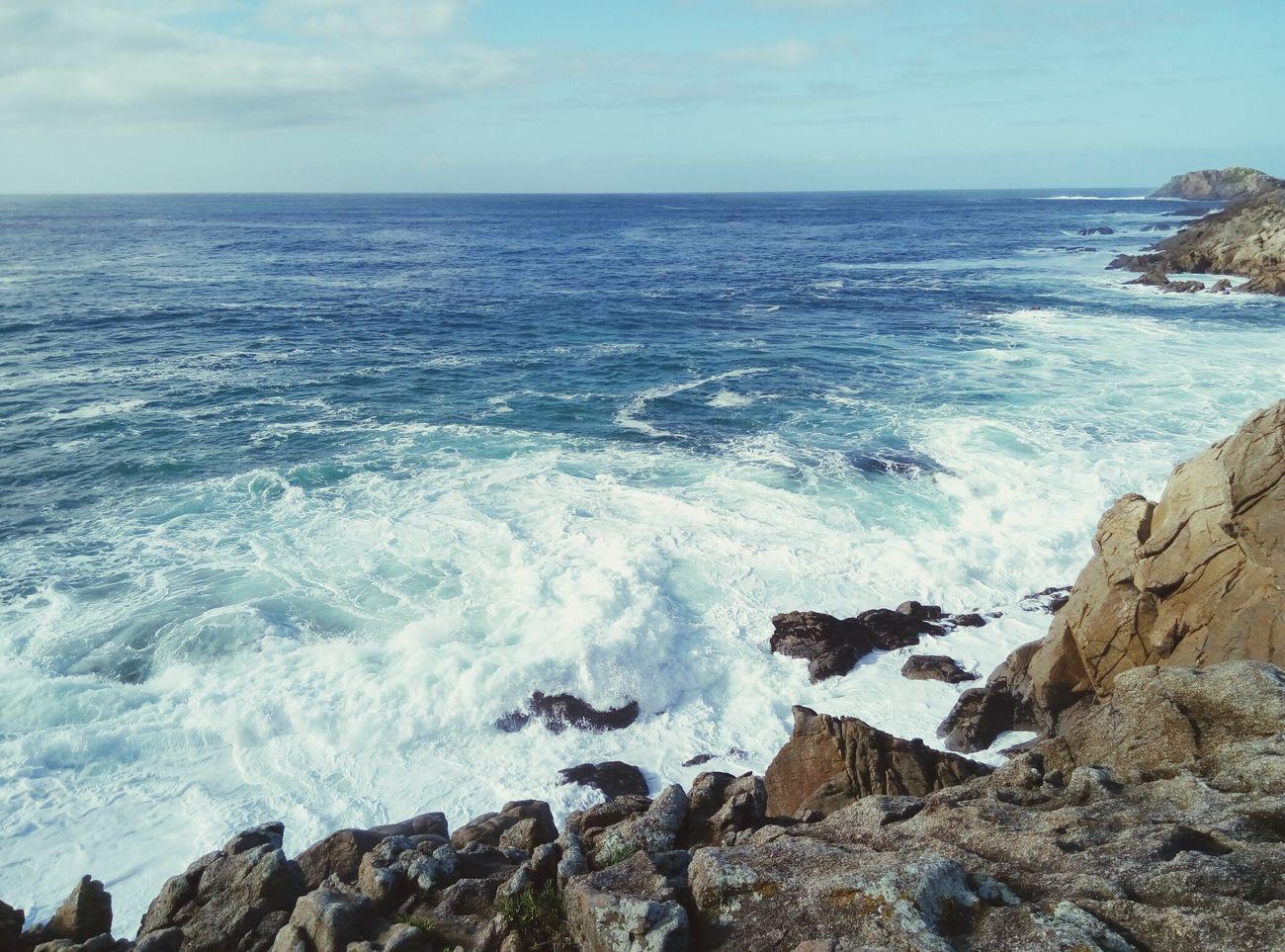🌞🌊 Ocean Sea Cantábrico Stones Blue Sky
