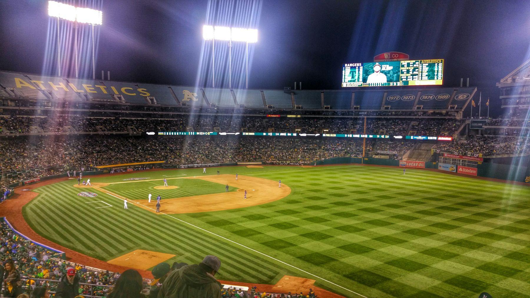 Baseball Oakland OaklandAthletics Athletics Mlb Coliseum Stadiumlights Lights