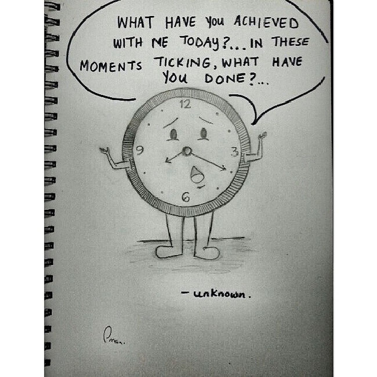 ⌚Time Life Ticking Movingfast sketchbyimanartreminderimportantquote