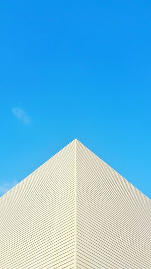 Architecture Low Angle View Triangle Shape Pyramid Built Structure Sky Modern