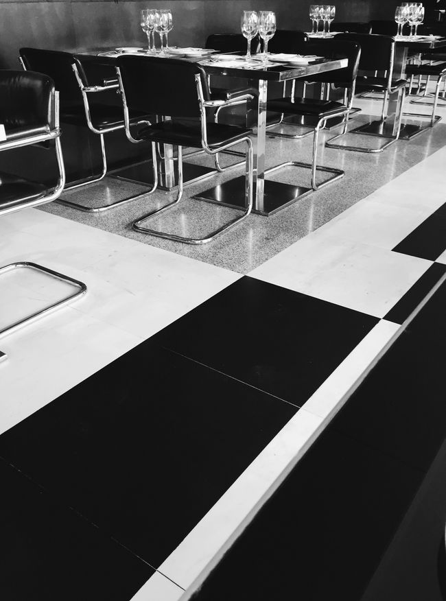 Cafe Blackandwhite Monochrome Design
