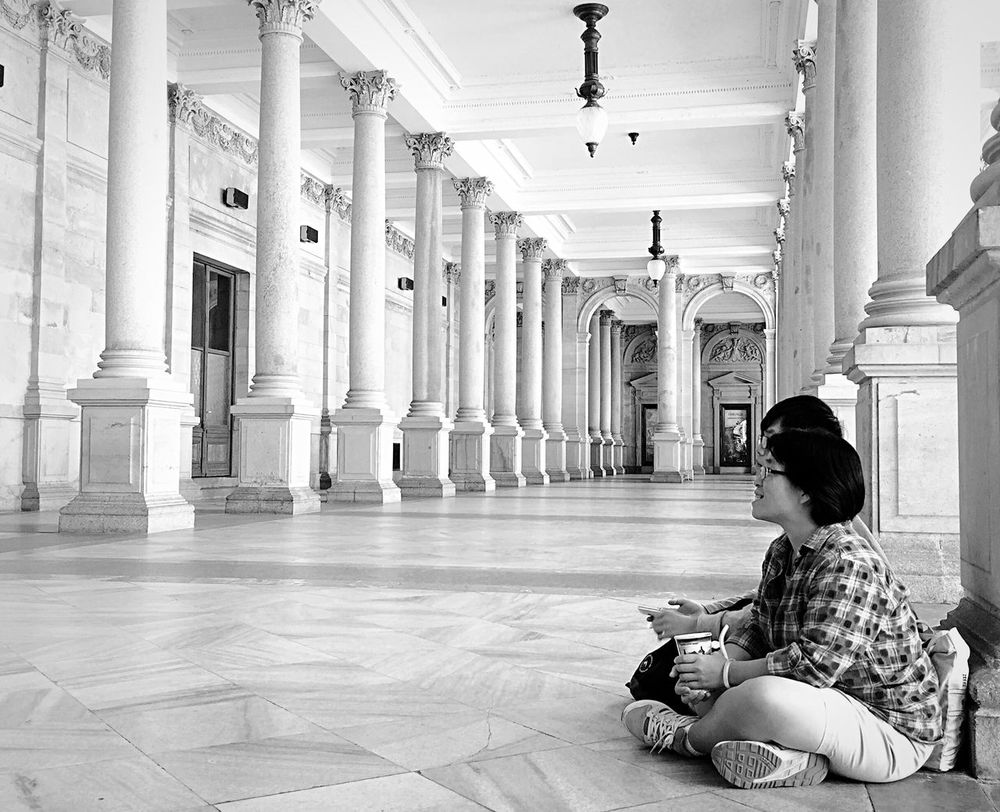 The Mill Colonnade Streetphoto_bw Street Photography Relaxing Karlovy Vary Colonnade Spa