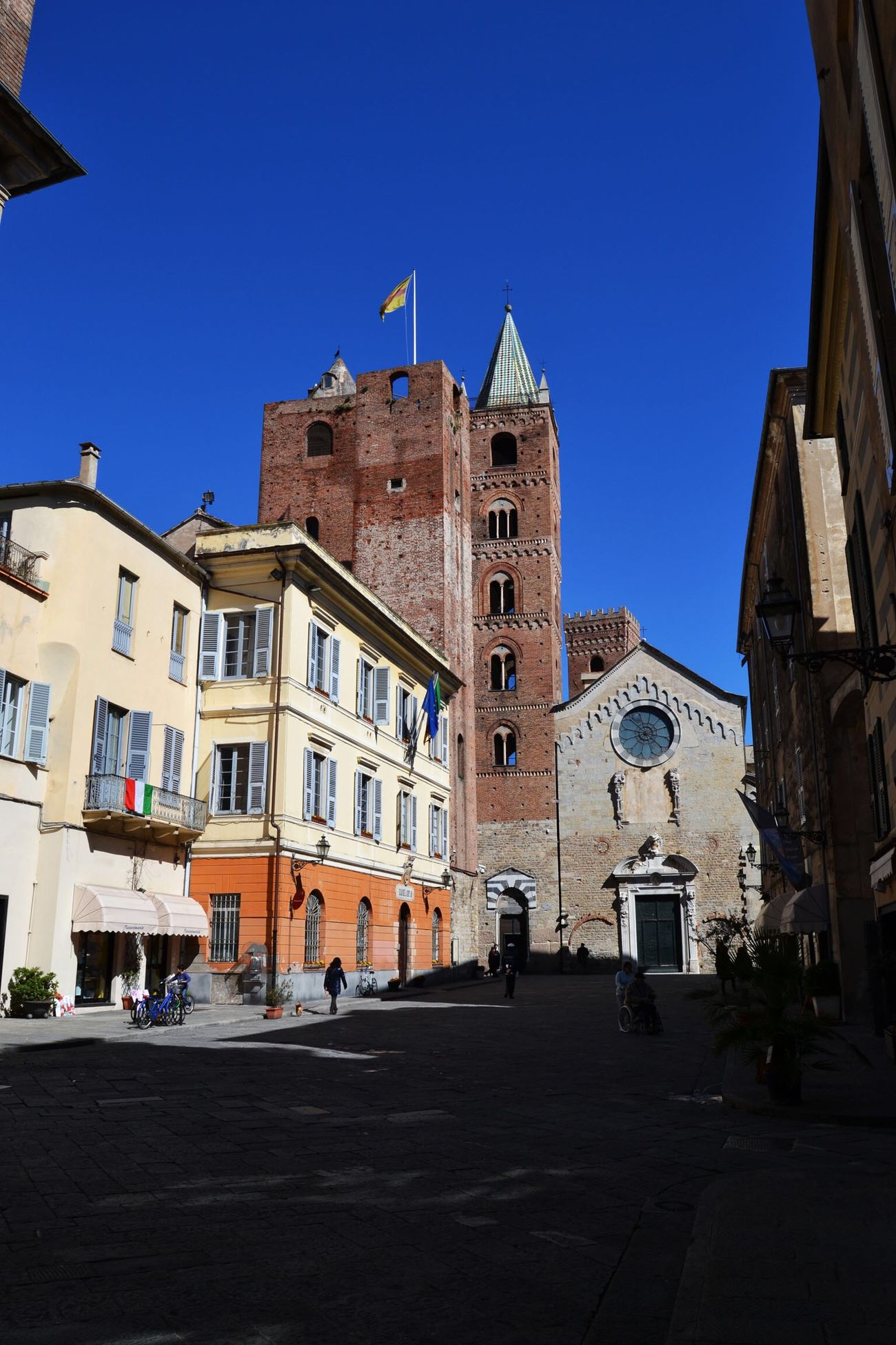 Albenga Liguria,Italy Architecture Building Exterior Built Structure Blue Clear Sky Day Sky Outdoors City No People