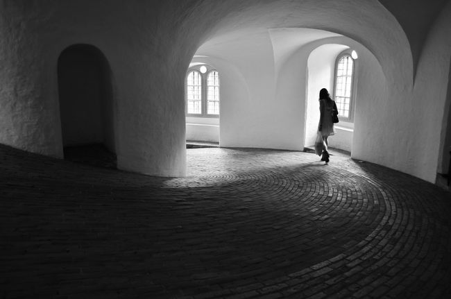 Alone Arch Arched Architectural Column Architecture Brickwork  Copenhagen Denmark Lonely On The Way Home Walking Around Window Young Woman Blackandwhite Photography Black And White Photography