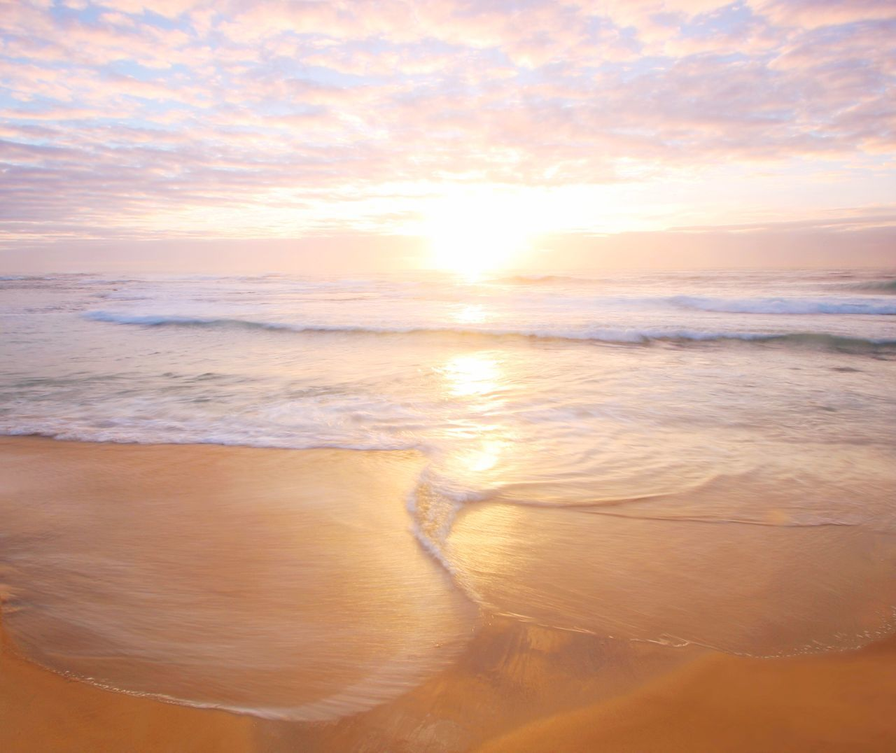 Peace Beach Sea Sand Nature Beauty In Nature Sunsete Sky Scenics Cloud - Sky Wave Tranquil Scene Horizon Over Water Tranquility Water No People OutdoorsSeascape Ocean Long Exposure Merewether EyeEmNewHere Millennial Pink