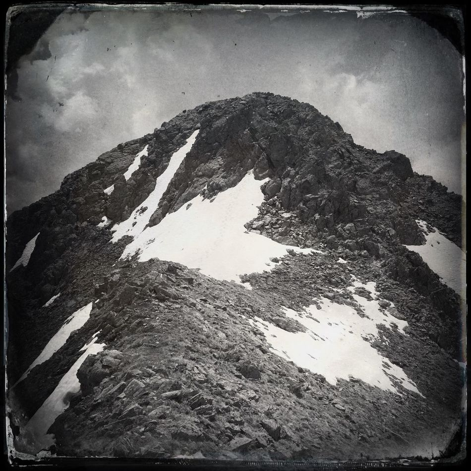 At the top of Mt. Cima Trenta (2630 m) Hipstamatic Blackandwhite The_guido