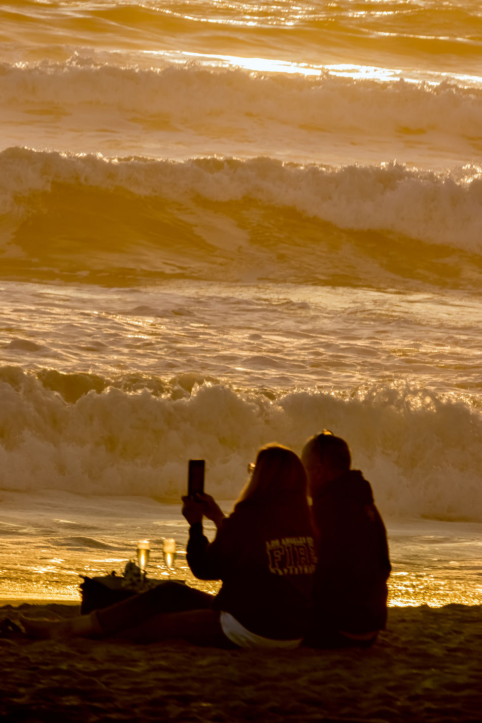 Romance is alive and well on Ventura Beach. Beach Beach Life Beach Photography Beachphotography California California Coast California Dreaming California Love California Sunset Coast Coastal Life Couple Couple - Relationship Golden Golden Hour Romance Romantic Sunset Ventura Waves
