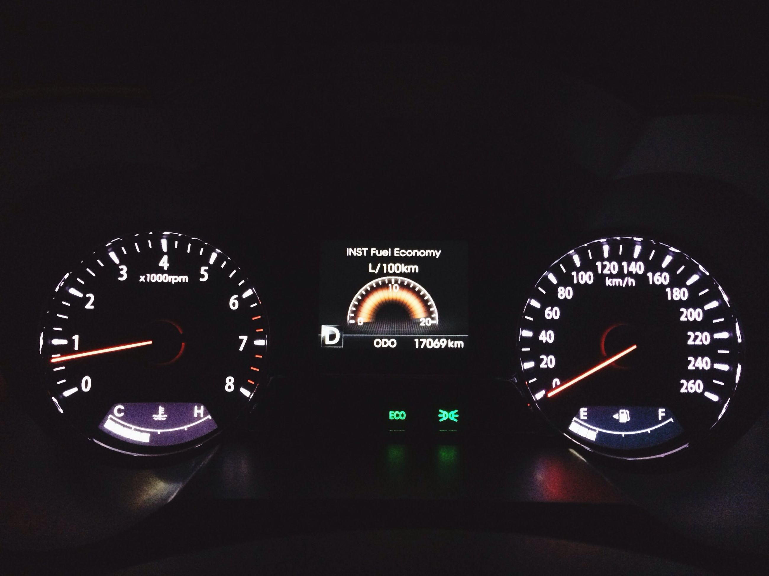 transportation, land vehicle, mode of transport, indoors, clock, time, car, copy space, clear sky, illuminated, number, communication, text, travel, old-fashioned, vehicle interior, speedometer, no people, technology, low angle view