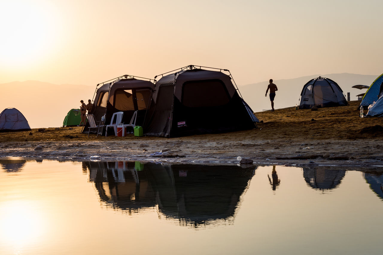 DeadSea Sunrise Camping Deadsea Enjoy The New Normal EyeEm Team Israel Nature Outdoors Reflection Reflection Reflection_collection Reflections Reflections In The Water Shillouette Sunlight Sunrise Sunrise_Collection Sunset Tadaa Community Tent Traveling Water Water Reflections My Year My View
