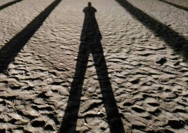 Symetry Outdoors 12.05.2017 One Person Symétrie By Night Beach Beachphotography Smartphonephotography France Creativity Original Photography Shawdow Shawdowpictures Palms Ombre Palmiers Art Is Everywhere Plage La Nuit Live For The Story The Street Photographer - 2017 EyeEm Awards The Portraitist - 2017 EyeEm Awards Myself Place Of Heart