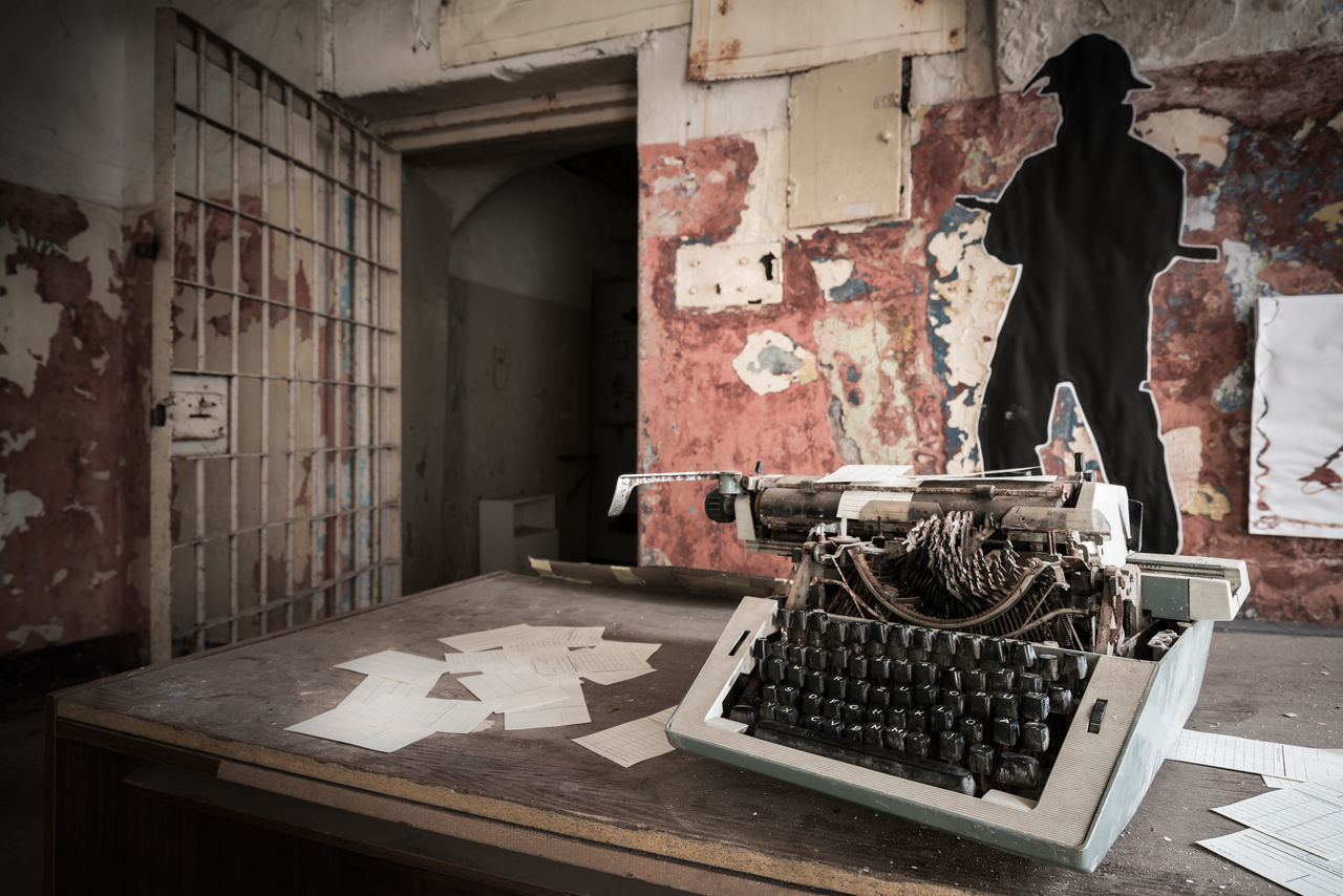 Missed deadline Abandoned Abandoned Buildings Abandoned Places Capital Cities  City Depth Of Field Estonia Europe Exploring Indoors  Interior Jail Office Old Buildings Patarei Prison Selective Focus Soviet Soviet Era Soviet Union Tallinn Typewriter Urban Urbex Urbexphotography