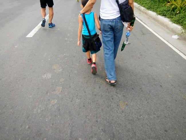Fatherhood Moments Walking Road Outdoors Leisure Activity Eyeem Philippines Street Photography