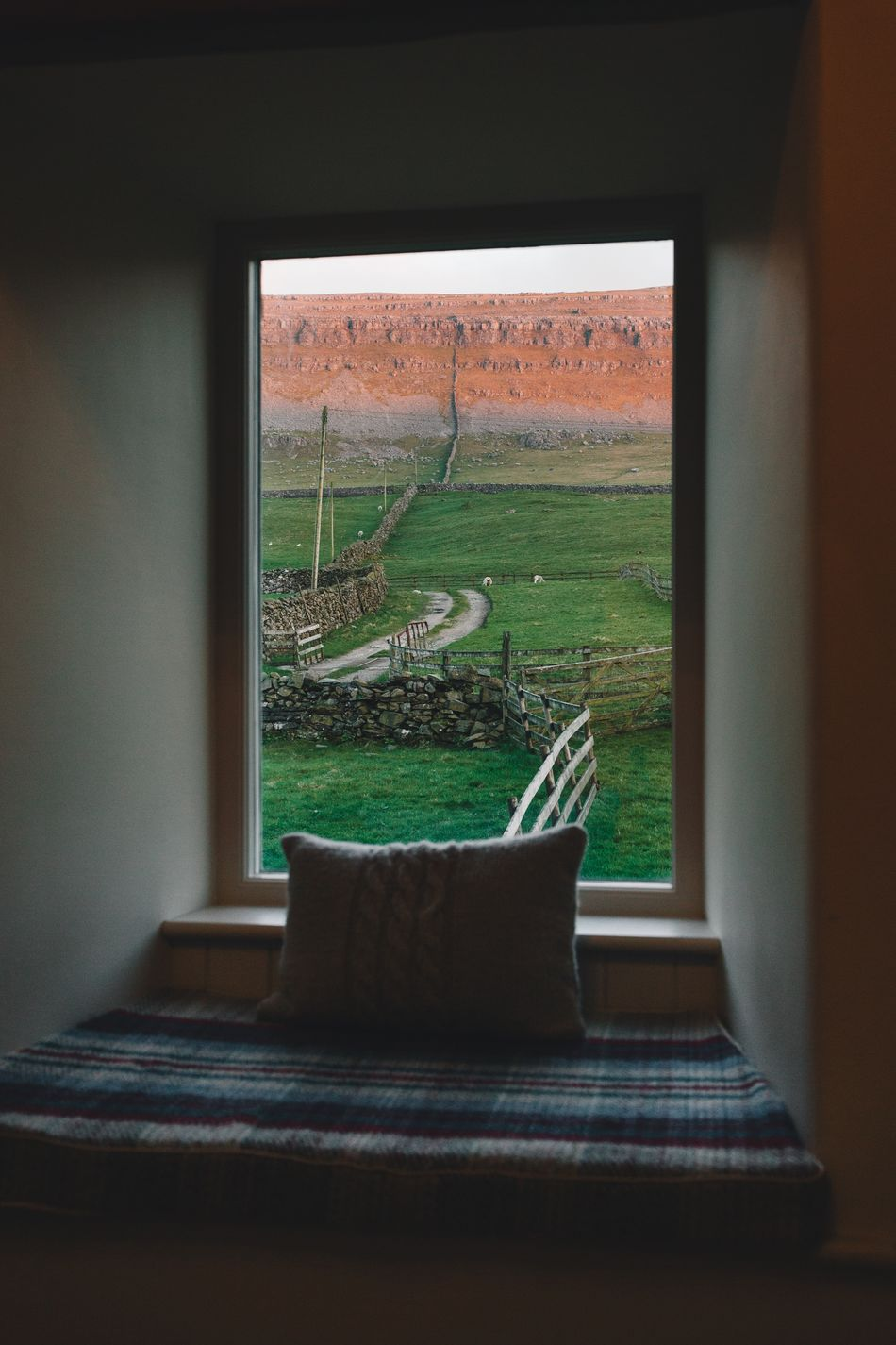 Views Indoors  Window Farm Quiet Home Interior Green Nature Rural Relaxing No People Home Interior Architecture Yorkshire Break Weekend Getaway Nature Dale Dales Natural Park Yorkshire Dales Cosy Home Cosy Sitting