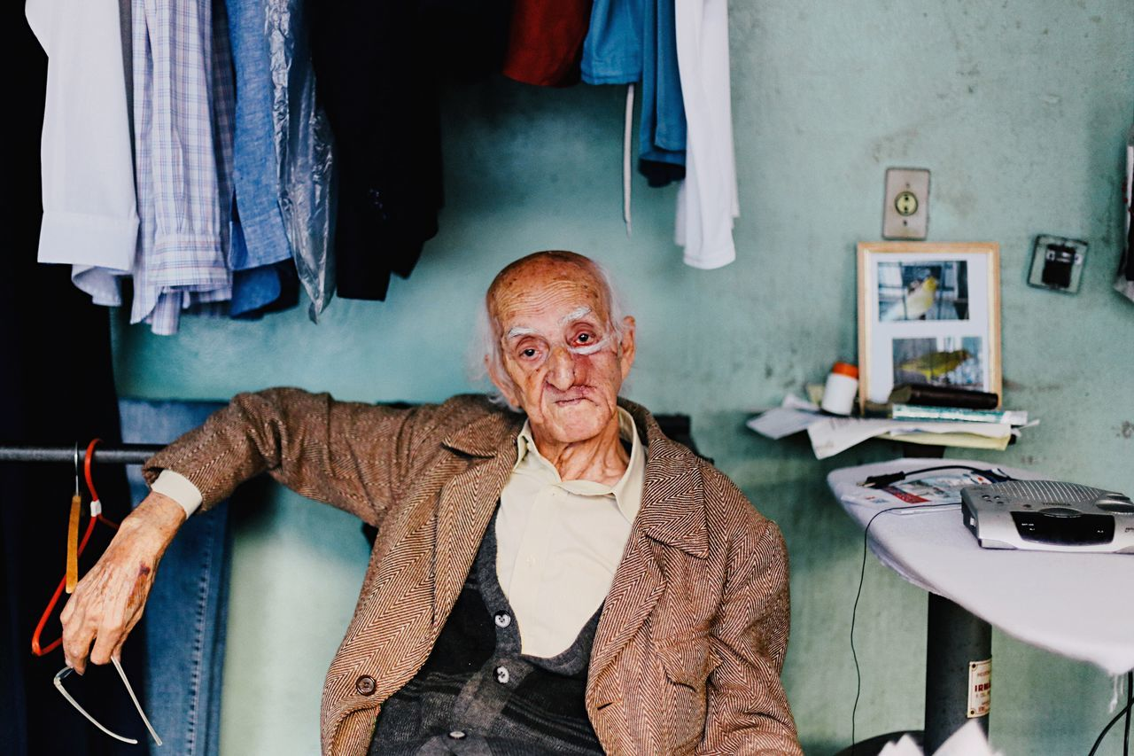 Let's talk about fashion! Mr. Nelson, 86, runs the oldest laundry in town, the Pereira's Laundry. He is the gentleman as its best and always wears these charming clothes. The Fashionist - 2015 EyeEm Awards Portrait Color Portrait Portraits The Portraitist - 2015 EyeEm Awards Old Fashion Man History Memories Natural Light Portrait