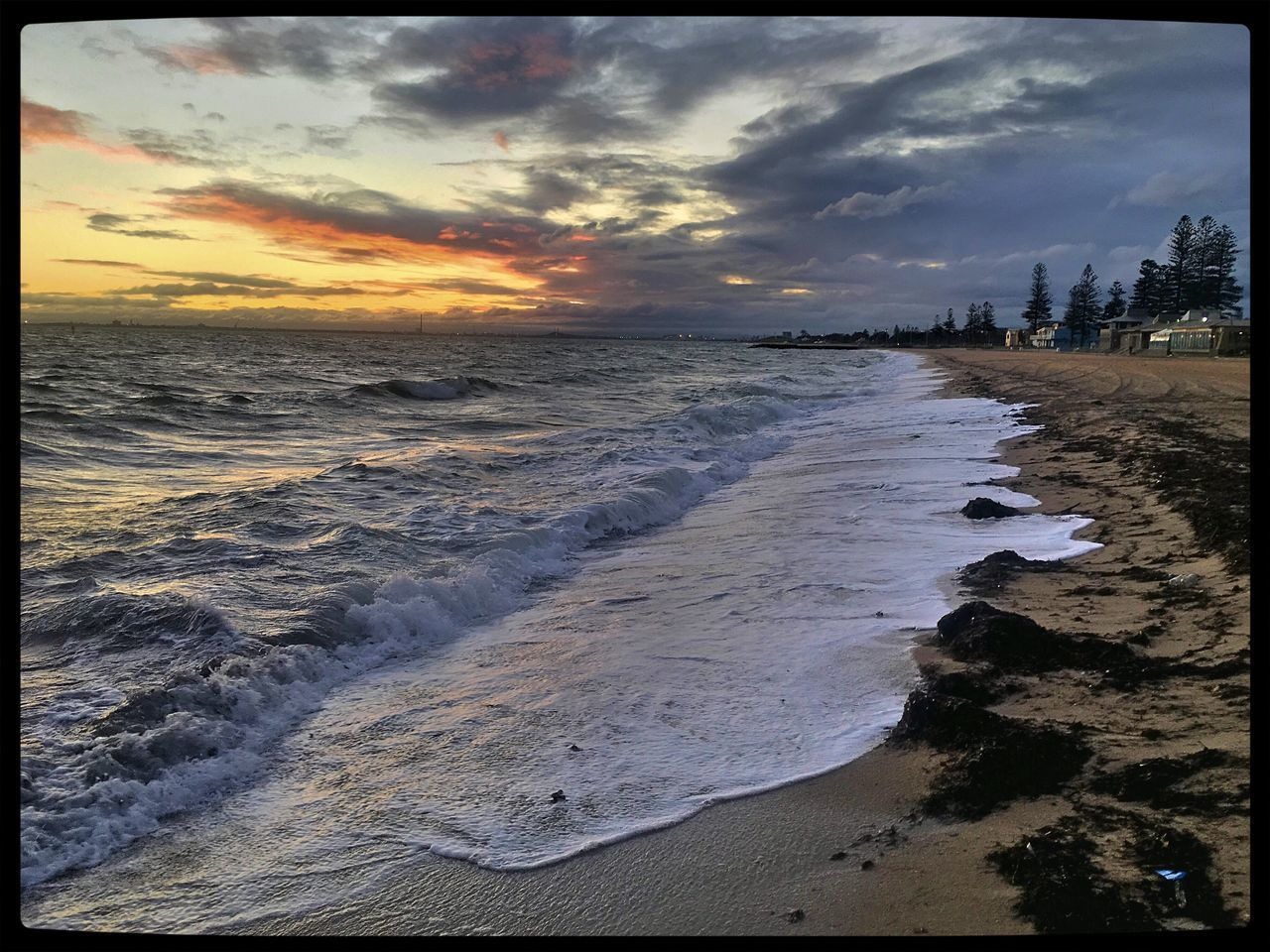 Beachphotography Beautiful Sand Water Beach Nature Dusk Sunset Coastline Taking Photos View Melbourne Elwood