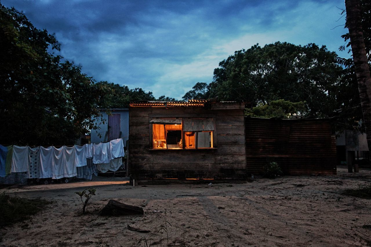 Architecture Building Exterior House Hut Lowlight Outdoors Travel Village