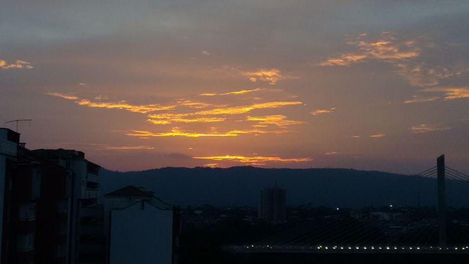Sunset @bucaramanga Mountain Sky Sunset Cloud - Sky City Soccer Outdoors No People Night Science Nature Astronomy Sunset_collection Sunset_captures Clouds And Sky No Filter, No Edit, Just Photography Sky And Clouds Bucaramanga City