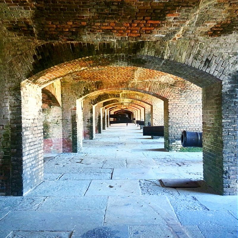 Vanishing Point Fort Zachary Taylor Key West. Cannons Cannon Old Brick Military Fort History