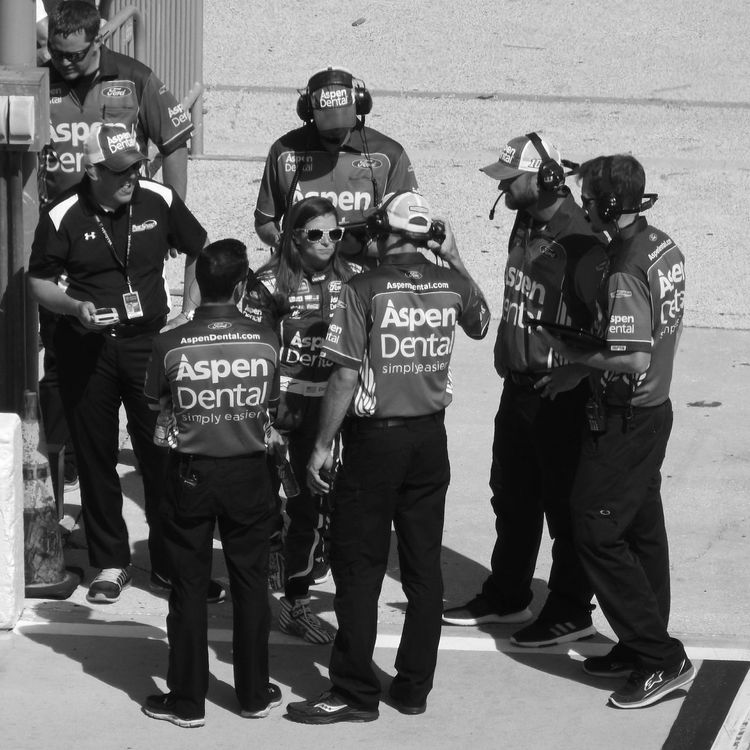 Daytona International Speedway Firecracker 250 NASCAR Famous Person Race Car Driver 10 Danica Patrick People Pit Crew Outdoors Florida Life Black And White Photography