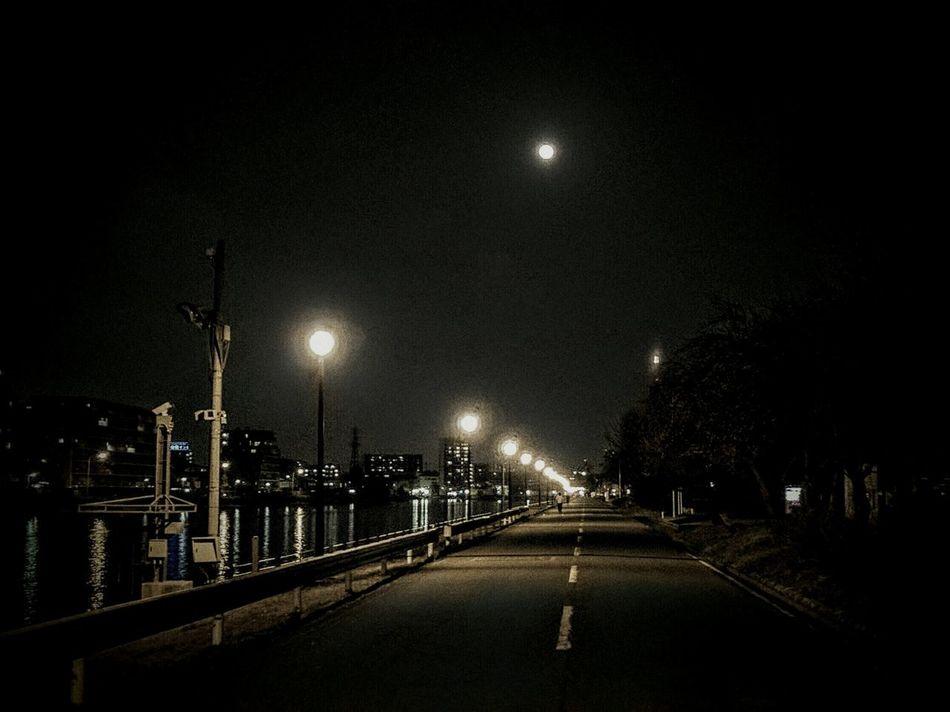 戸田漕艇場 Night Photography Night View Moon Light Silhouette_collection Scenery Toniht Night Jog