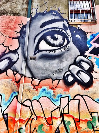 Eye spy with my massive eye. Taking Photos Check This Out IPhoneography Walking Around Street Photography Streetphotography Art Graffiti Streetart Enjoying Life