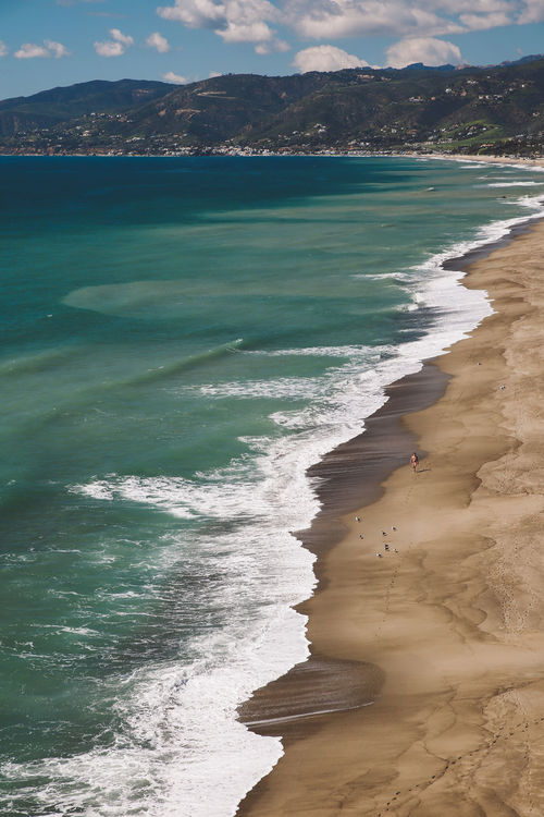 California Malibu Point Dume Point Dume State Beach Beach Beauty In Nature Day Horizon Over Water Mammal Nature One Person Outdoors People Sand Scenics Sea Shore Sky Tranquil Scene Tranquility Travel Destinations Vacations Water Wave Breathing Space
