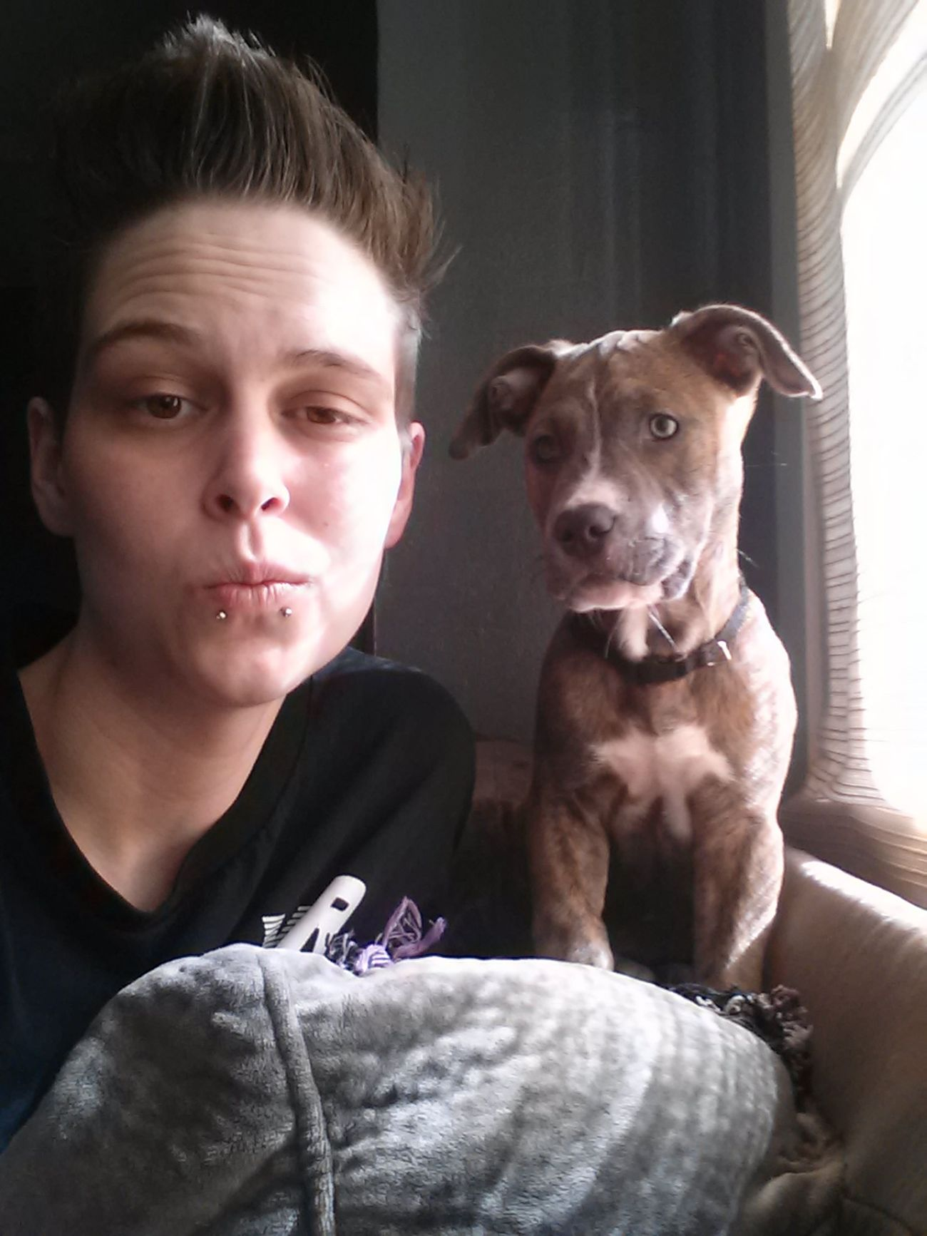 Big shoutout to my baby Misha. Thanks for melting my heart and being my best friend =). New boss of the house. Cute Lgbt Selfie ♥ That's Me Lesbian ♥ Lesbian Lesbians Swag Snakebites Pierced Y&R Young & Reckless Pets Puppy Pitbull Pitbull♥ Pitbulls