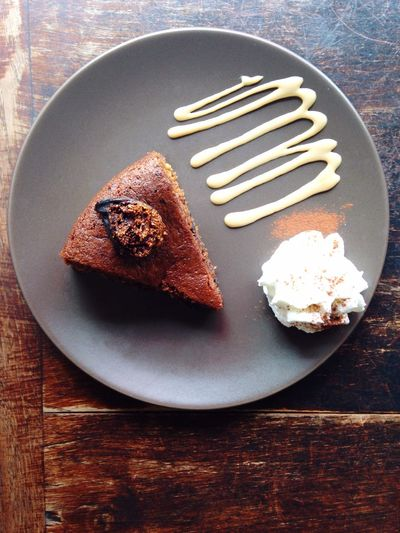 Fig cake Brunch Coffee & Cake Fig Cake Anothai Organic Cafe Rama 9 Oraganic Cake Sweet Top View Top Shot Fatty Happy