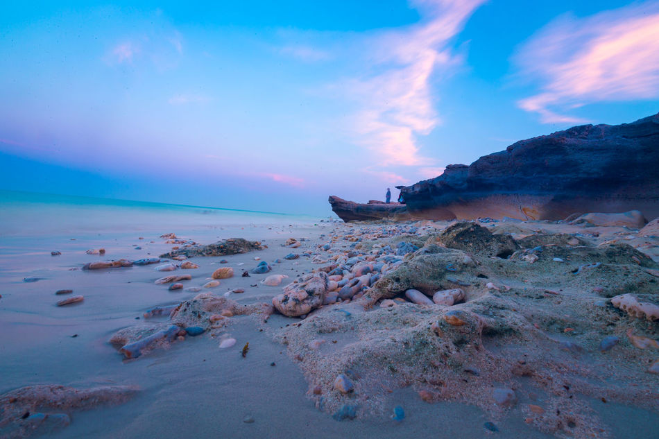 Beach Beauty In Nature Day Horizon Over Water Landscape Nature No People Outdoors Sand Scenics Sea Seaweed Sky Sunset Tranquil Scene Tranquility