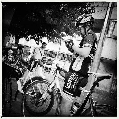 Untitled Bicycle Outdoors Street EyeEm Streetphotography Hipstamatic Candid IPhoneography Blackandwhite Black And White Street Photography Portrait Monochrome EyeEm Best Shots Eye4black&white  AMPt - Street Shootermag Eye4thestreets Black & White