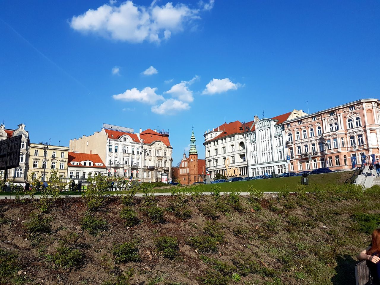 Day Travel Architecture Built Structure Low Angle View Building Exterior Sky Outdoors City Poland Cultures Travel Destinations Bydgoszcz Blue Cloud - Sky City Architecture Landscape No People History Urban Skyline