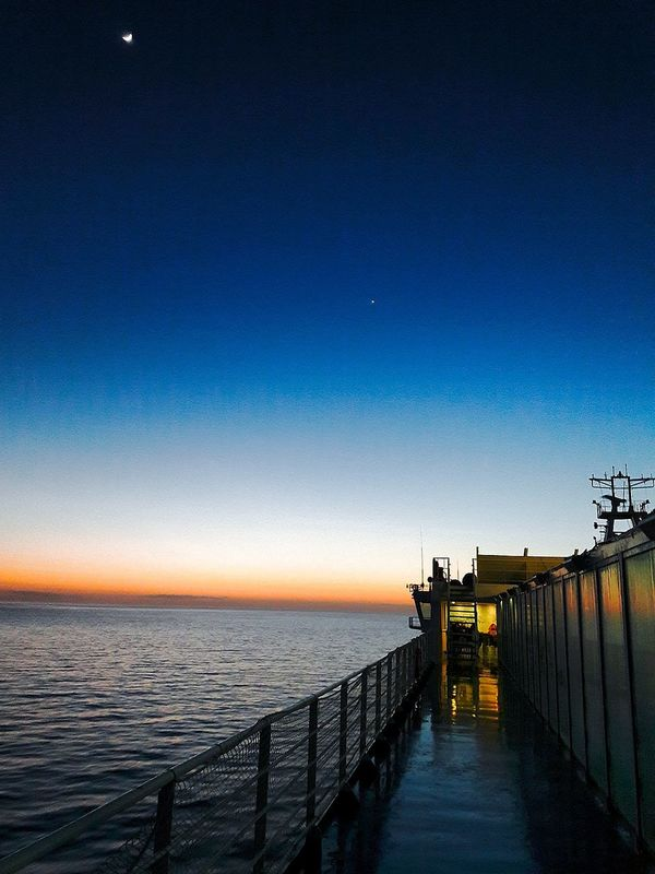 Sea Beauty In Nature Sky Night Nature Beach Astronomy Outdoors Horizon Over Water Scenics Star - Space No People Galaxy Grimaldi Grimaldilines Tourism Boat Boats⛵️ Travel Travel Photography Mar Nave Navegando Day Travel Destinations