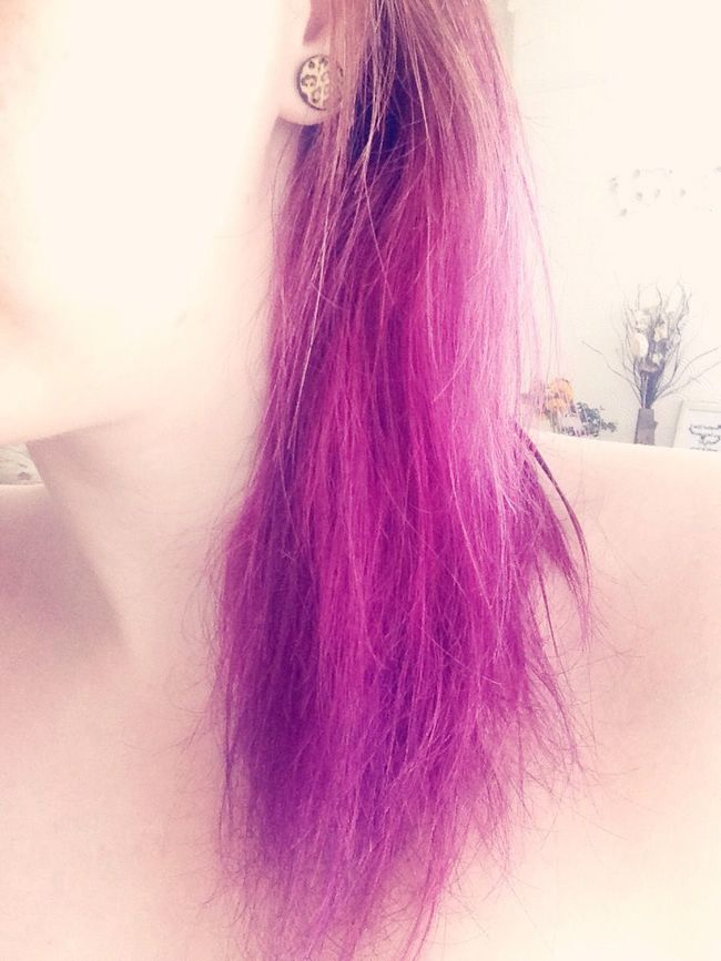 Dip Dye Hair Purple Hair