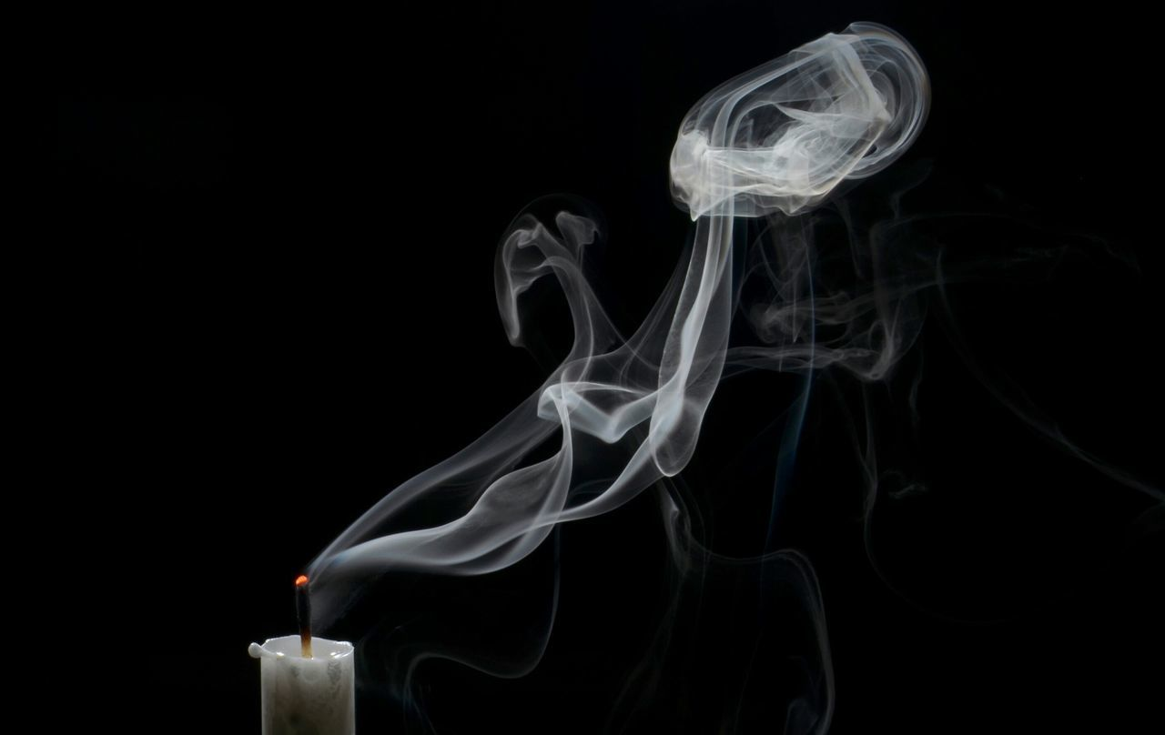 Beautiful stock photos of wolken, Black Background, Candle, Close-Up, No People