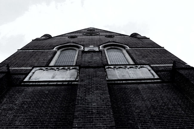 Digital Photography Black And White Church Low Angle View Hoxton London