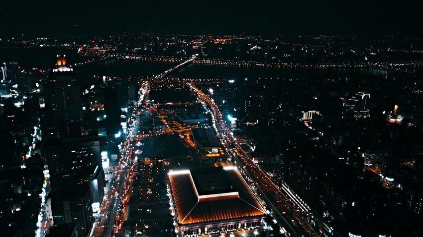 Djiglobal Mavic Pro Dji Drone  Night City High Angle View Aerial View Dronephotography Droneshot
